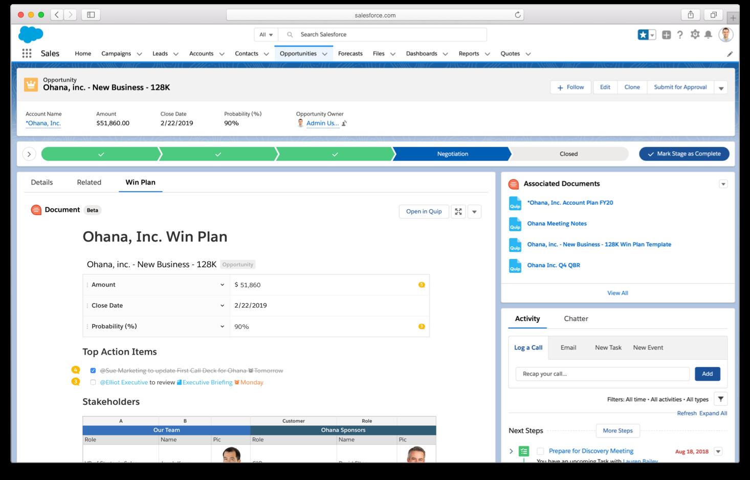 Quip for Salesforce AppExchange app